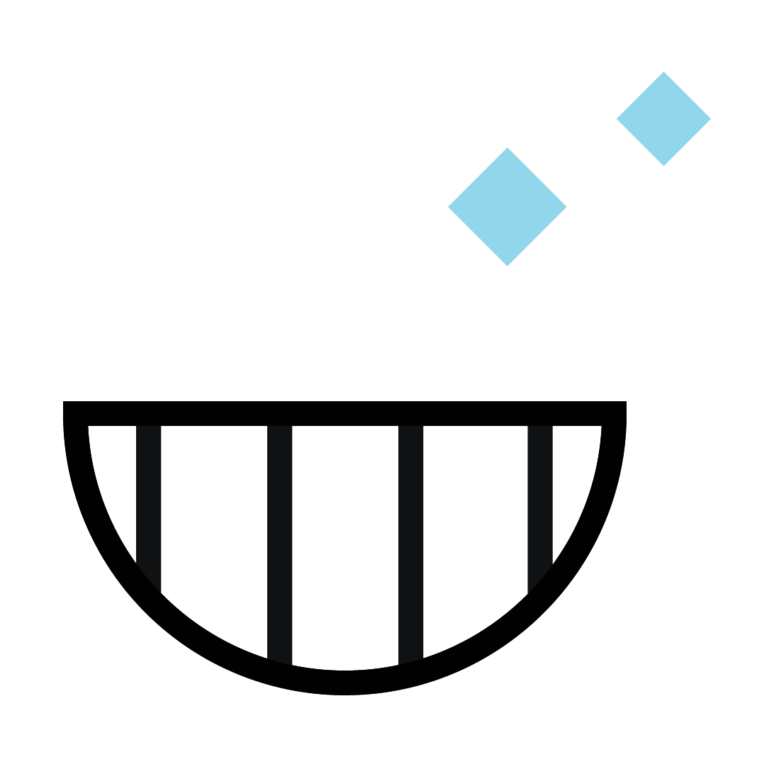 Open mouth icon to show how easy it is to book a free orthodontic appointment.
